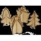 Zestaw Świąteczny: zawieszki i torebka ZSB1