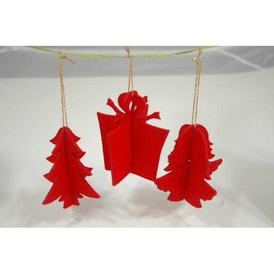 Zestaw Świąteczny: zawieszki i koperta ZSB2