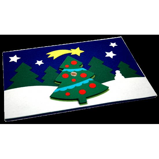 Filcowa kartka Świąteczna: FKS